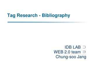 Tag Research - Bibliography