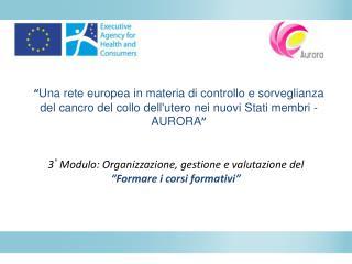 """3 °  Modulo:  Organizzazione ,  gestione  e  valutazione  del   """" Formare i corsi formativi """""""