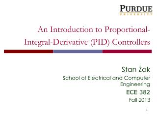 An Introduction to Proportional-Integral-Derivative (PID) Controllers