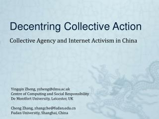 Decentring Collective Action