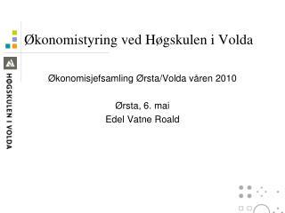 Økonomistyring ved Høgskulen i Volda