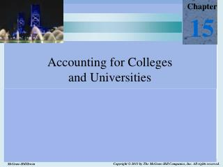 Accounting for Colleges  and Universities