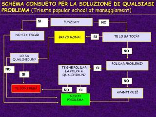 SCHEMA CONSUETO PER LA SOLUZIONE DI QUALSIASI PROBLEMA  (Trieste popular school of maneggiament)