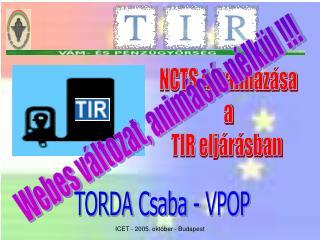 TORDA Csaba - VPOP
