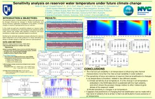 Sensitivity analysis on reservoir water temperature under future climate change