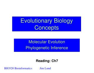 Evolutionary Biology Concepts