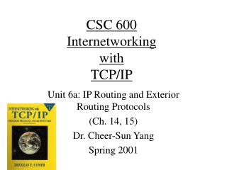 CSC 600 Internetworking  with TCP/IP
