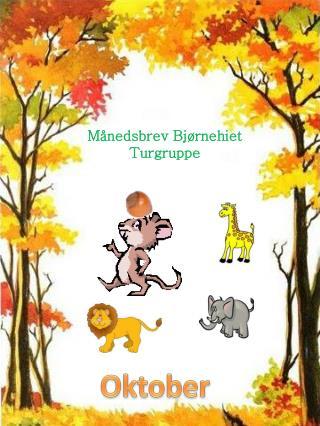 Månedsbrev  Bjørnehiet Turgruppe