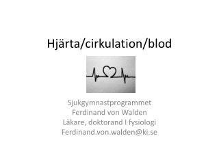 Hjärta / cirkulation / blod