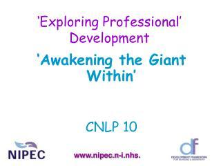 �Exploring Professional� Development