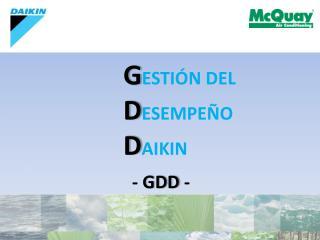 G ESTIÓN DEL D ESEMPEÑO D AIKIN  . -  GDD  -