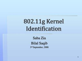 802.11g Kernel Identification