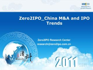 Zero2IPO_China M&A and IPO Trends