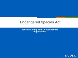 Endangered Species Act