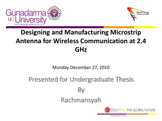 Presented for Undergraduate Thesis By Rachmansyah