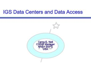 IGS Data Centers and Data Access