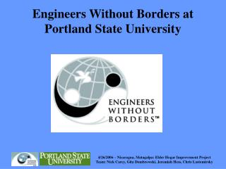 Engineers Without Borders at Portland State University