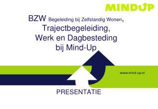 BZW  Begeleiding bij Zelfstandig Wonen ,  Trajectbegeleiding,  Werk en Dagbesteding bij Mind-Up