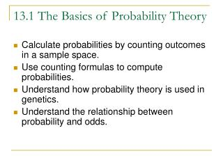 13.1 The Basics of Probability Theory