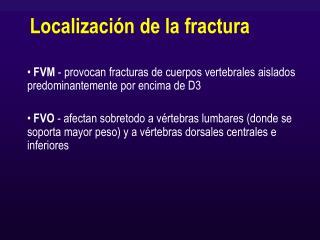 Localización de la fractura