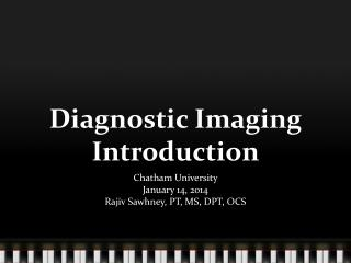 Diagnostic Imaging Introduction