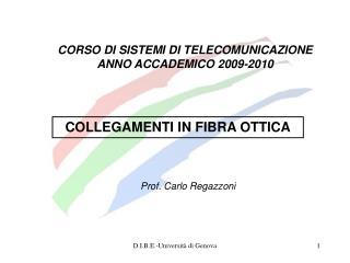 CORSO DI SISTEMI DI TELECOMUNICAZIONE  ANNO ACCADEMICO 2009-2010