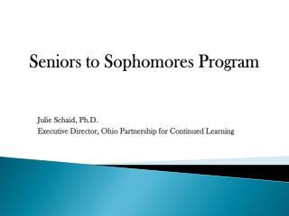 Seniors to Sophomores Program