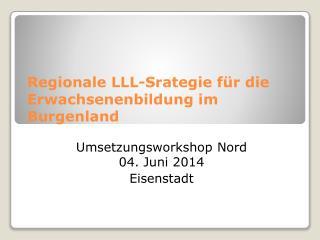 Regionale LLL-Srategie für die Erwachsenenbildung im Burgenland