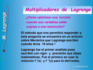 Multiplicadores de  Lagrange