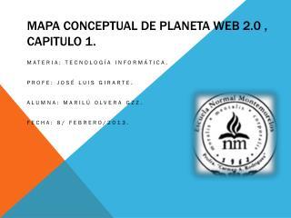 Mapa conceptual de planeta web 2.0 , capitulo 1.