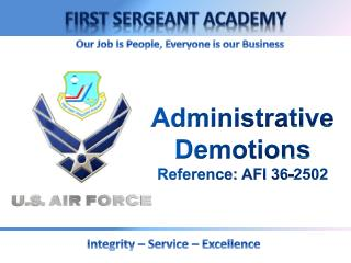 Administrative Demotions Reference: AFI 36-2502