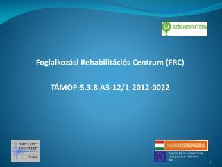 Foglalkozási Rehabilitációs Centrum (FRC) TÁMOP-5.3.8.A3-12/1-2012-0022