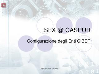 SFX @ CASPUR