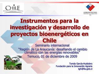 Instrumentos para la investigación y desarrollo de proyectos bioenergéticos en Chile