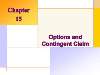 Options and Contingent Claim