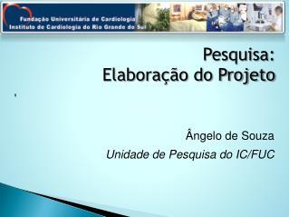 Pesquisa:  Elaboração do Projeto