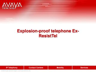Explosion-proof telephone Ex-ResistTel