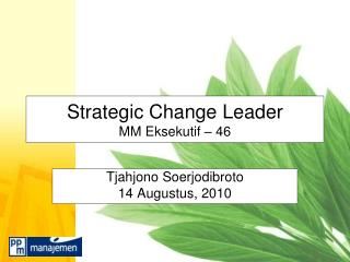 Strategic Change Leader MM Eksekutif – 46