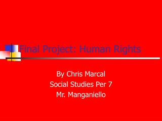 Final Project: Human Rights