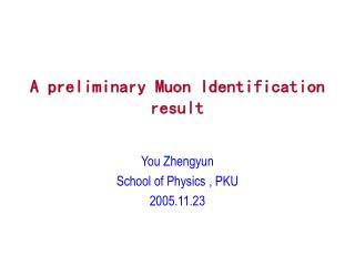 A preliminary Muon Identification result