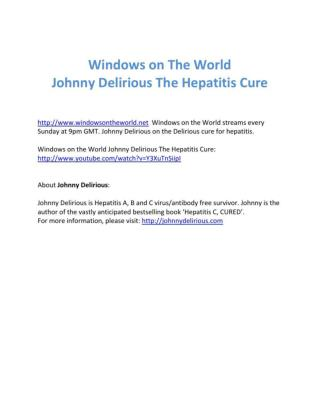 Windows on the World Johnny Delirious The Hepatitis Cure
