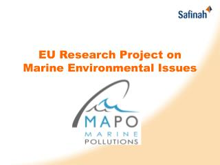 EU Research Project on Marine Environmental Issues