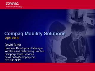 Compaq Mobility Solutions  April 2002