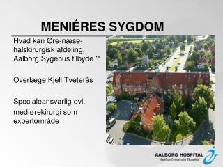 MENI�RES SYGDOM