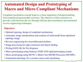 Automated Design and Prototyping of Macro and Micro Compliant Mechanisms