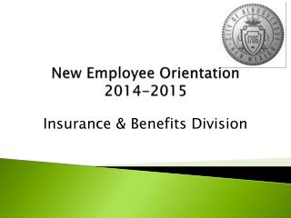 New Employee Orientation  2014-2015