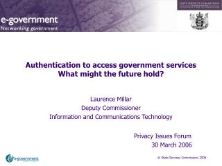 Authentication to access government services What might the future hold?
