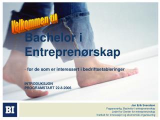 Bachelor i Entrepren�rskap