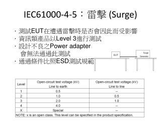 IEC61000-4-5 :雷擊  (Surge)