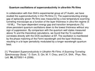 Quantum oscillations of superconductivity in ultra-thin Pb films